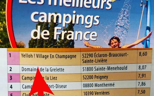 1er Camping de Champagne-Ardenne - 6e en France