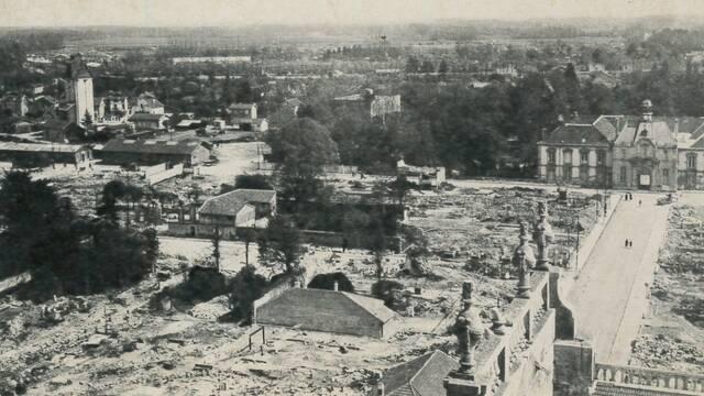 Bombardements à Vitry-le-François