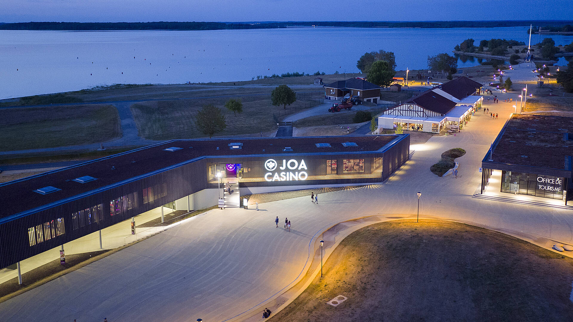 Aerial view of the Casino JOA