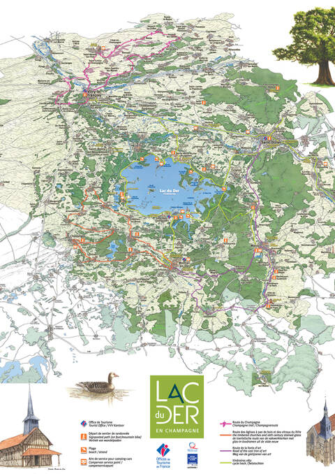 Carte Touristique du Lac du Der - Verso