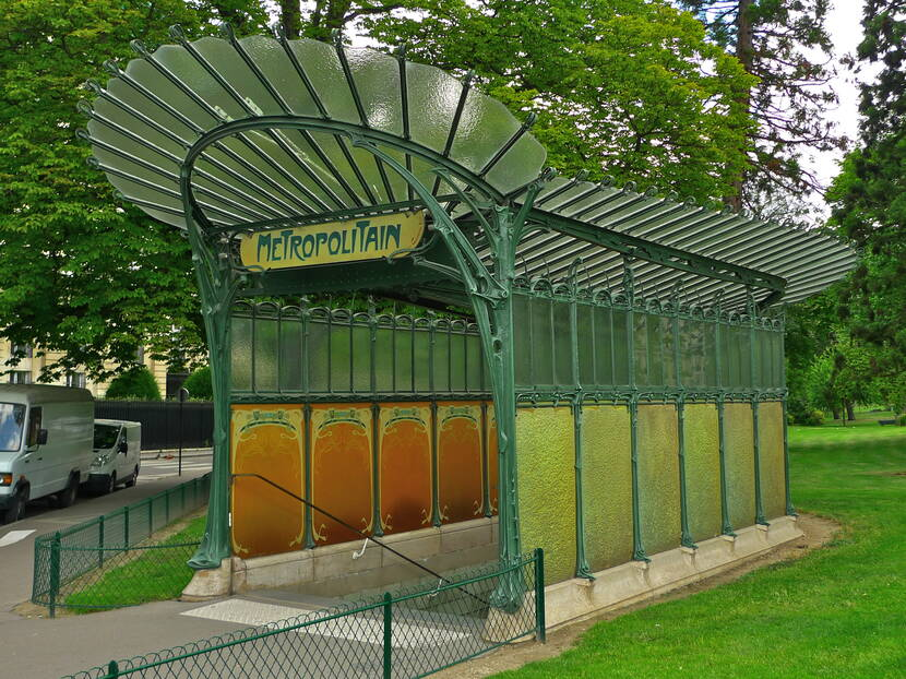 Porte Dauphine Metro station in Paris