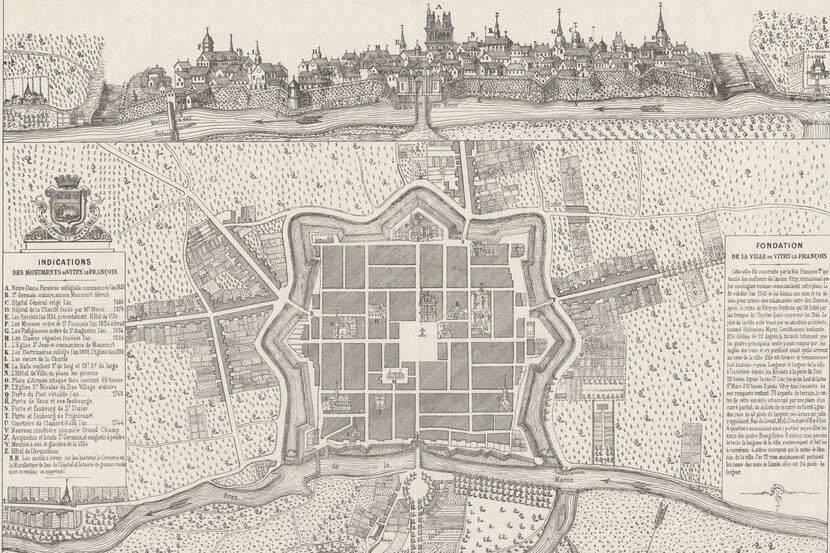 Plan Tavernier de Vitry-le-François (1792)