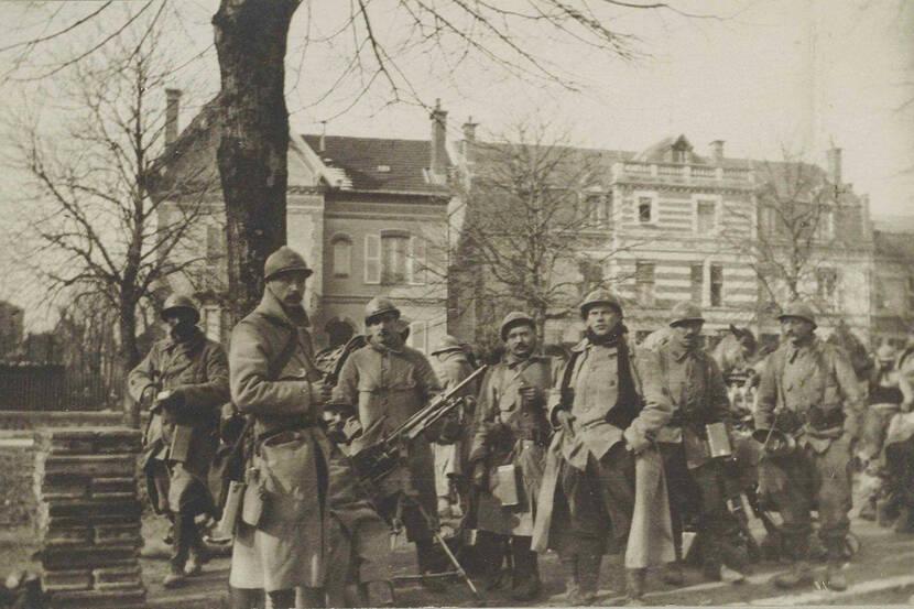 Soldats français à Vitry-le-François